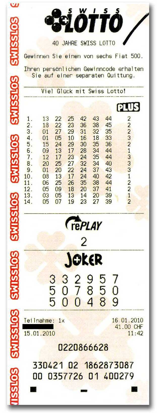 Swiss lotto | check results, jackpot, stats & odds
