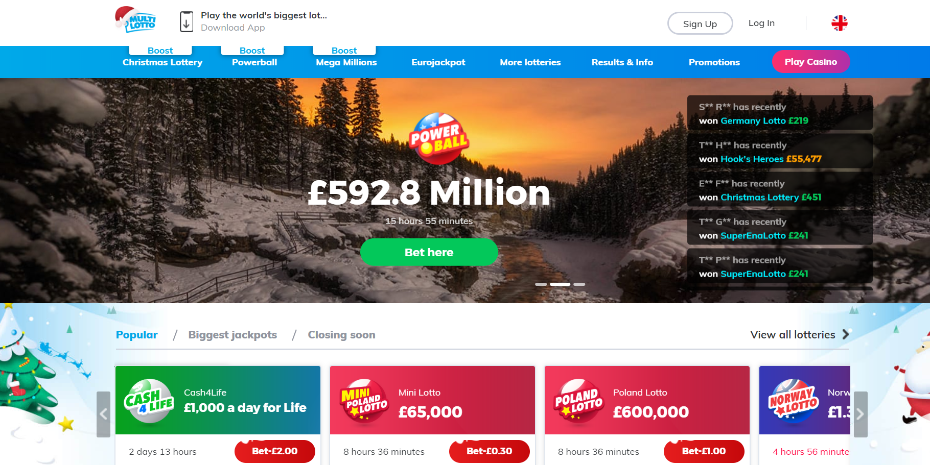 Online lottery - play lotto online at multilotto
