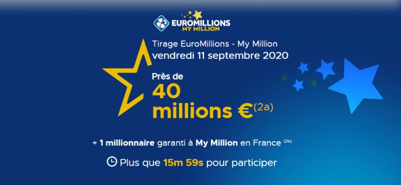 Résultat euromillions : tirage du mardi 10 septembre 2019