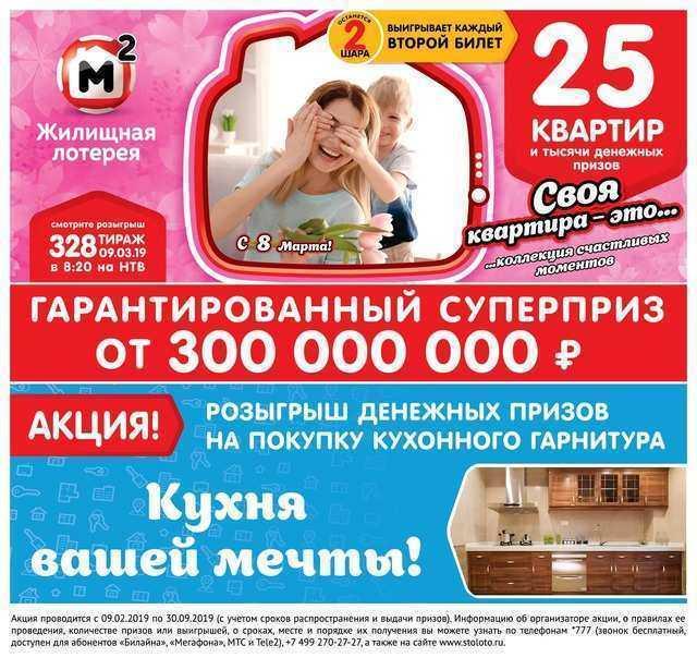 Правила лотереи «русское лото»