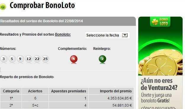 Bonoloto | check results, jackpot, stats & odds