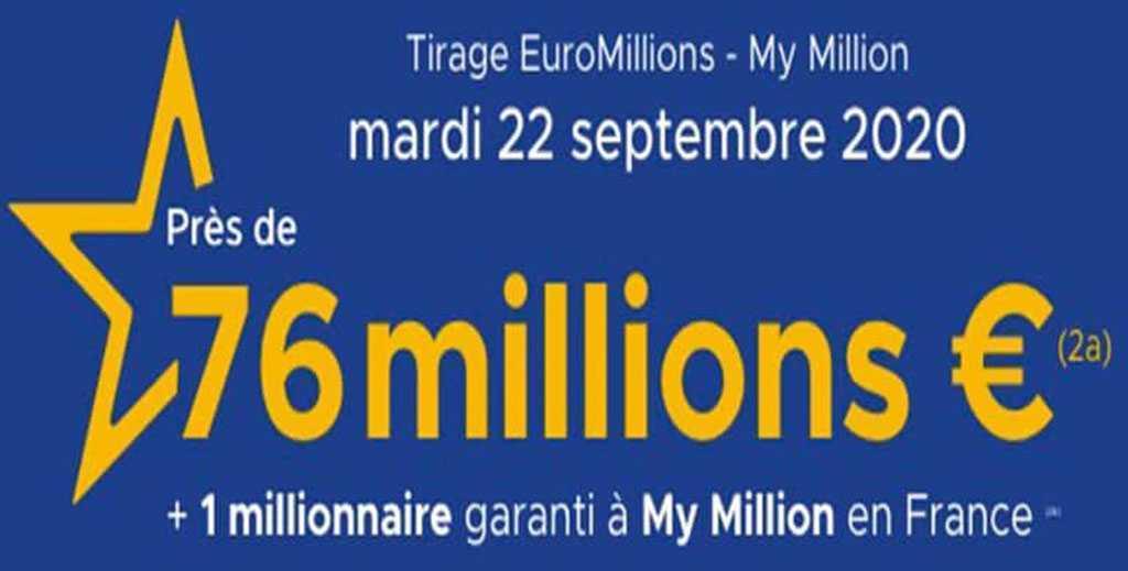 Résultat euromillions : tirage du mardi 1 septembre 2020