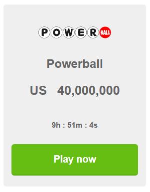 Loto powerball online   tickets para la loteria powerball
