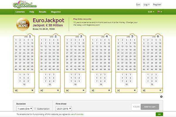 Gigalotto - top 10 best online lotto