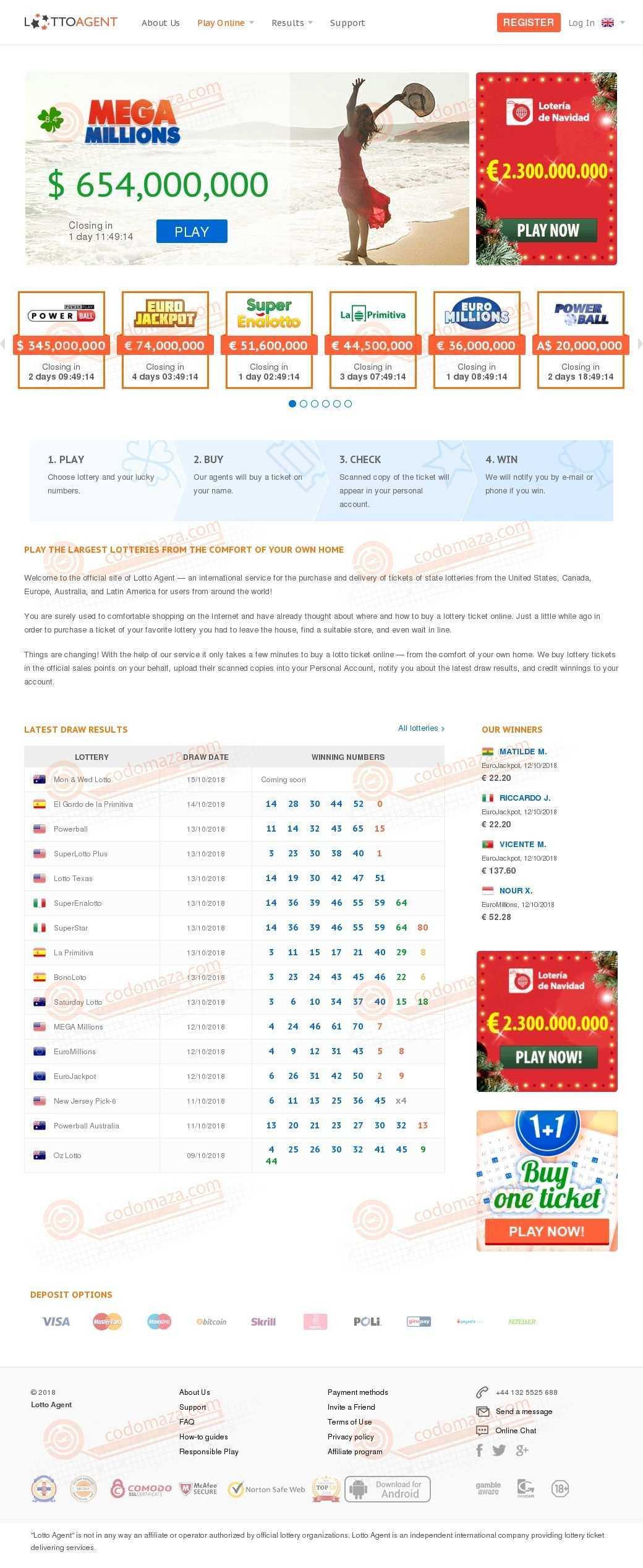 Всемирная лотерея онлайн с my-lotto - part 7