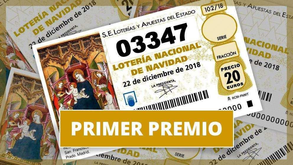 03347, el gordo de la lotería de navidad 2018, loterнa navidad 2020.