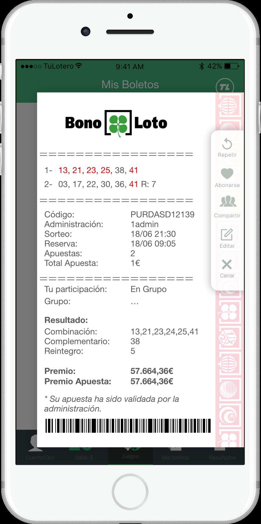 Loterías y apuestas del estado. resultados y botes - lotopia.com.